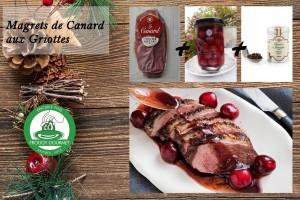 MAGRETS DE CANARD AUX GRIOTTES