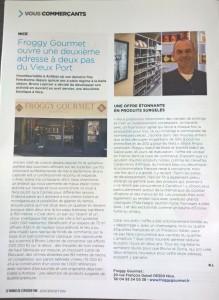 LE MONDE DE L'EPICERIE FINE newspaper talks about us